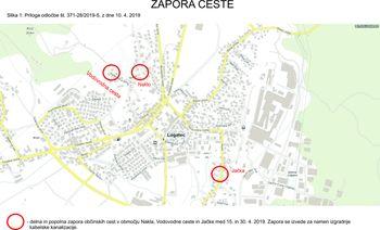 Zapora ceste Jačka, Naklo, Vodovodna cesta