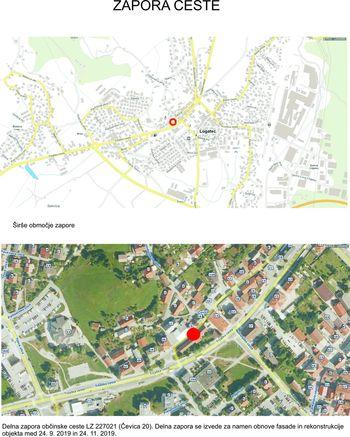 Zapora ceste - Čevica