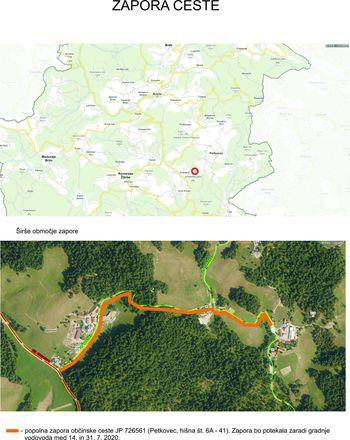 Zapora ceste Petkovec