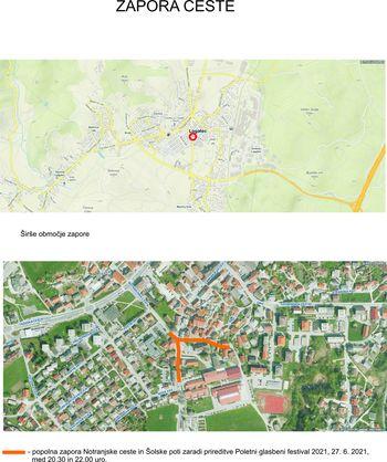 Zapora Notranjske ceste in Šolske poti
