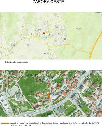 Zapora ceste Čevica - Večer pri vodnjaku