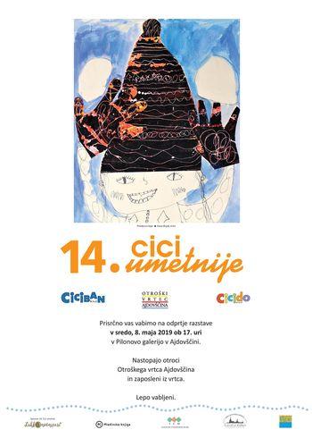14. CICI UMETNIJE  Gostujoča razstava po natečaju revij Ciciban in Cicido
