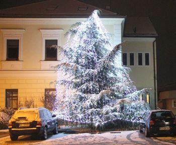 Prižig prazničnih luči in prva pošiljka snega na Polzeli
