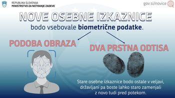 3. januarja 2022 prihajajo nove biometrične osebne izkaznice