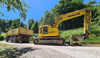 Začetek rekonstrukcije ceste skozi naselje Dobrič