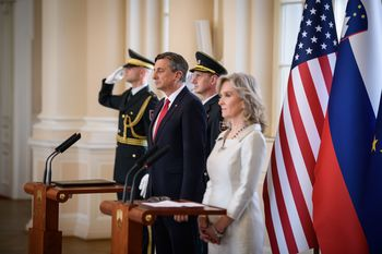 Predsednik Borut Pahor in veleposlanica Združenih držav Amerike Lynda C. Blanchard obeležila Dan slovensko-ameriškega prijateljstva in zavezništva
