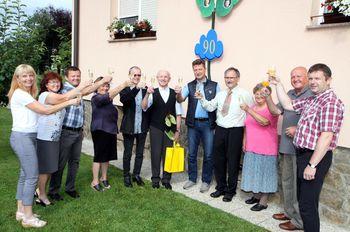 Anton Šalamon iz Ločice ob Savinji praznuje 90. rojstni dan