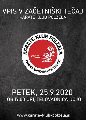 Vpis v začetniški tečaj - Karate klub Polzela