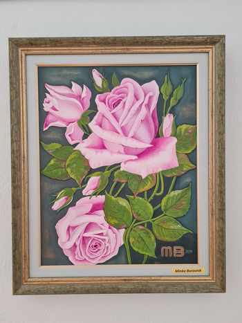 Razstava slik cvetja na gradu Komenda