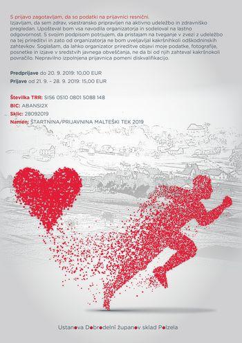 Malteški tek na 5, 10 in 21 km za Županov dobrodelni sklad Polzela