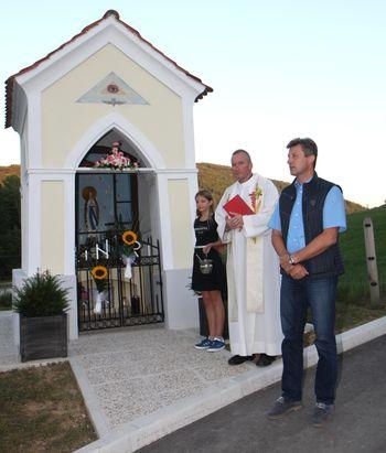 Blagoslov Kukemberškove kapele v Andražu nad Polzelo