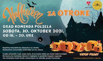 Halloween za otroke na gradu Komenda