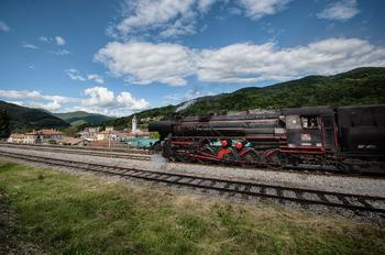 Predstavitev turistične ponudbe občine Kanal ob Soči ob prihodih muzejskega vlaka v Kanal