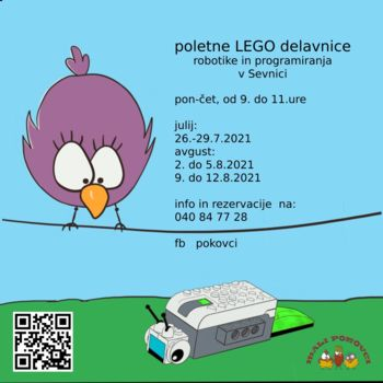 Poletna delavnica LEGO robotika in programiranje