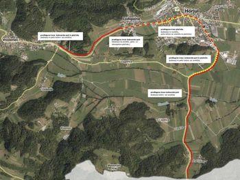 Predstavitev nove kolesarske povezave in pločnika