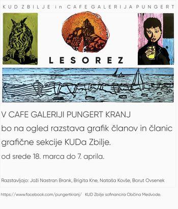 LESOREZ, razstava grafik članov in članic grafične sekcije KUDa Zbilje