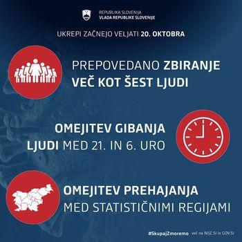 Vlada RS sprejela NOVE UKREPE, ki veljajo od danes naprej