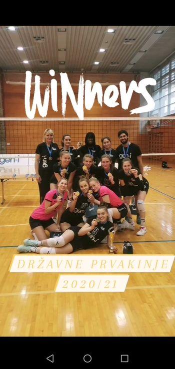 Mladinska ekipa Gen-i volley je postala državni prvak