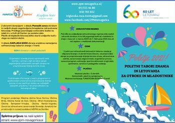 Poletni program za otroke in mladostnike 2021