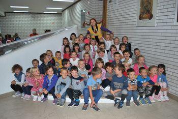 Otroci iz Župnijskega vrtca na Pikinem festivalu v Velenju