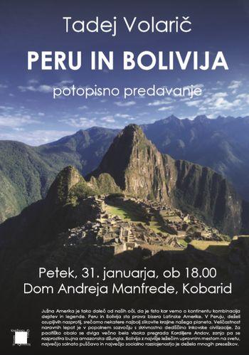 Potopisno predavanje Peru in Bolivija