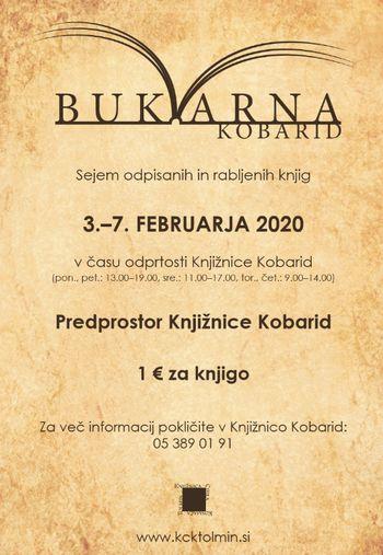 Bukvarna 2020 - sejem odpisanih in rabljenih knjig v Kobaridu