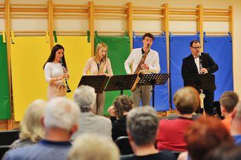 """Kvintet Sakstet """"glasbeno pomagal"""" Moškemu pevskemu zboru Prebold"""