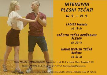 Intenzivni plesni tečaji v septembru