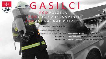 Prostovoljna gasilska društva Občine Polzela vabijo k vpisu