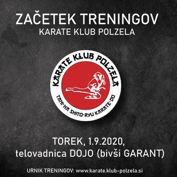 Začetek treningov Karate kluba Polzela