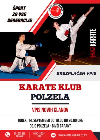 Karate klub Polzela vabi k vpisu