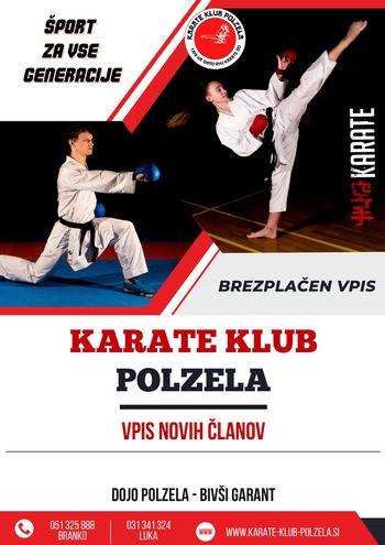 Vabljeni na začetni tečaj karateja