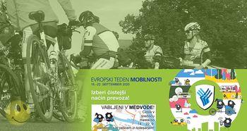Kolesarjenje po občini - Evropski teden mobilnosti 2020 v Medvodah