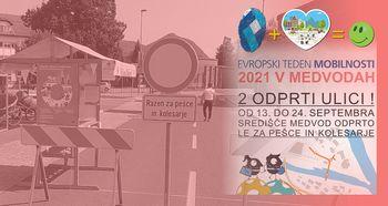 Odprta ulica - Evropski teden mobilnosti 2021 v Medvodah