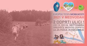 3sprehodi »Polje – gozd – voda« - Evropski teden mobilnosti 2021 v Medvodah