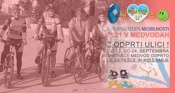 Kolesarjenje po občini - Evropski teden mobilnosti 2021 v Medvodah