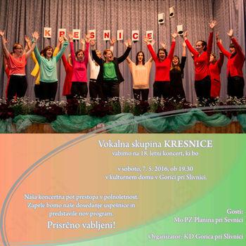 Koncert vokalne skupine Kresnice