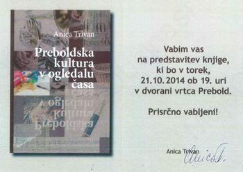 """Predstavitev knjige """"Preboldska kultura v ogledalu časa"""""""