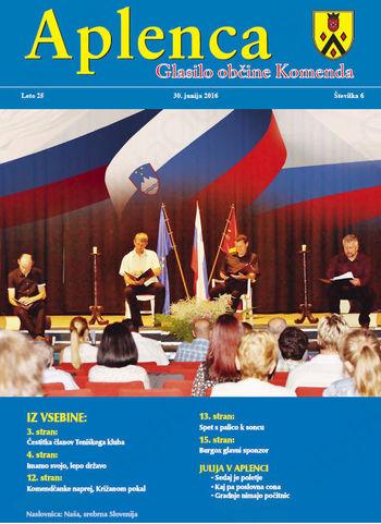 Aplenca – Glasilo občine Komenda 6/2016