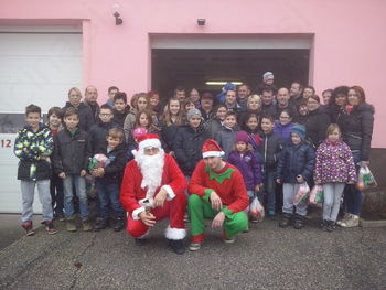 Božiček obiskal najmlajše člane PGD Velka