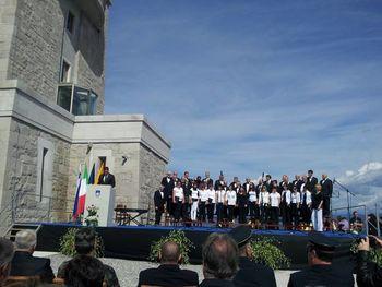 MePZ Sveti Anton je tudi to leto, s pesmijo počastil mednarodni dan miru na Cerju.