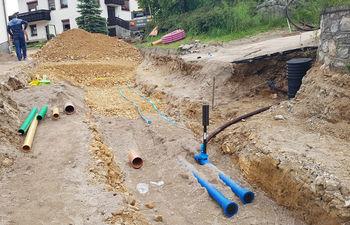 Obnova vodovoda na Hribu