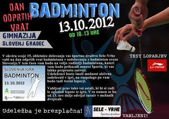 Slovenija igra badminton