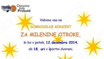 Dobrodelni koncert za Milenine otroke