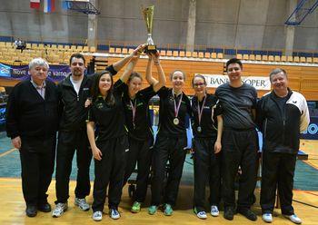 Mengšanke državne prvakinje med mladinkami ekipno v namiznem tenisu