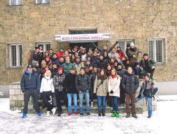 Ajdovski študentje silvestrovali v Sarajevu