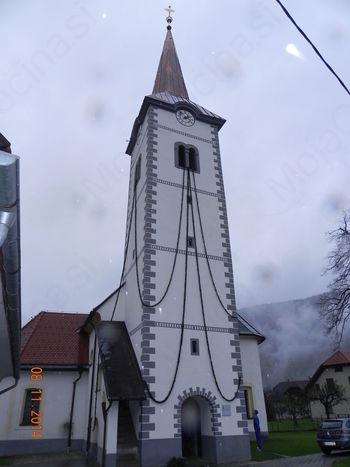 Blagoslovljena zvonik in slika sv. Martina