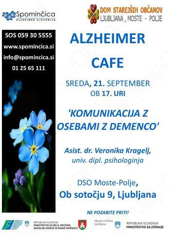 Alzheimer Cafe -Komunikacija z osebami z demenco