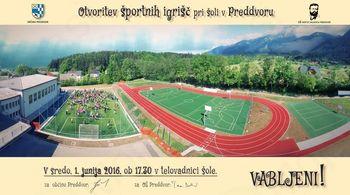 Otvoritev športnih igrišč pri osnovni šoli