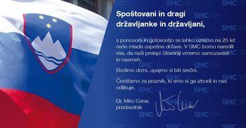 Čestitamo ob 25. obletnici države Slovenije